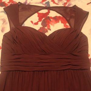 Size 16 burgundy long flowy bridesmaid dress